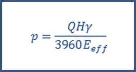 فرمول محاسبه پمپ تصفیه آب استخر